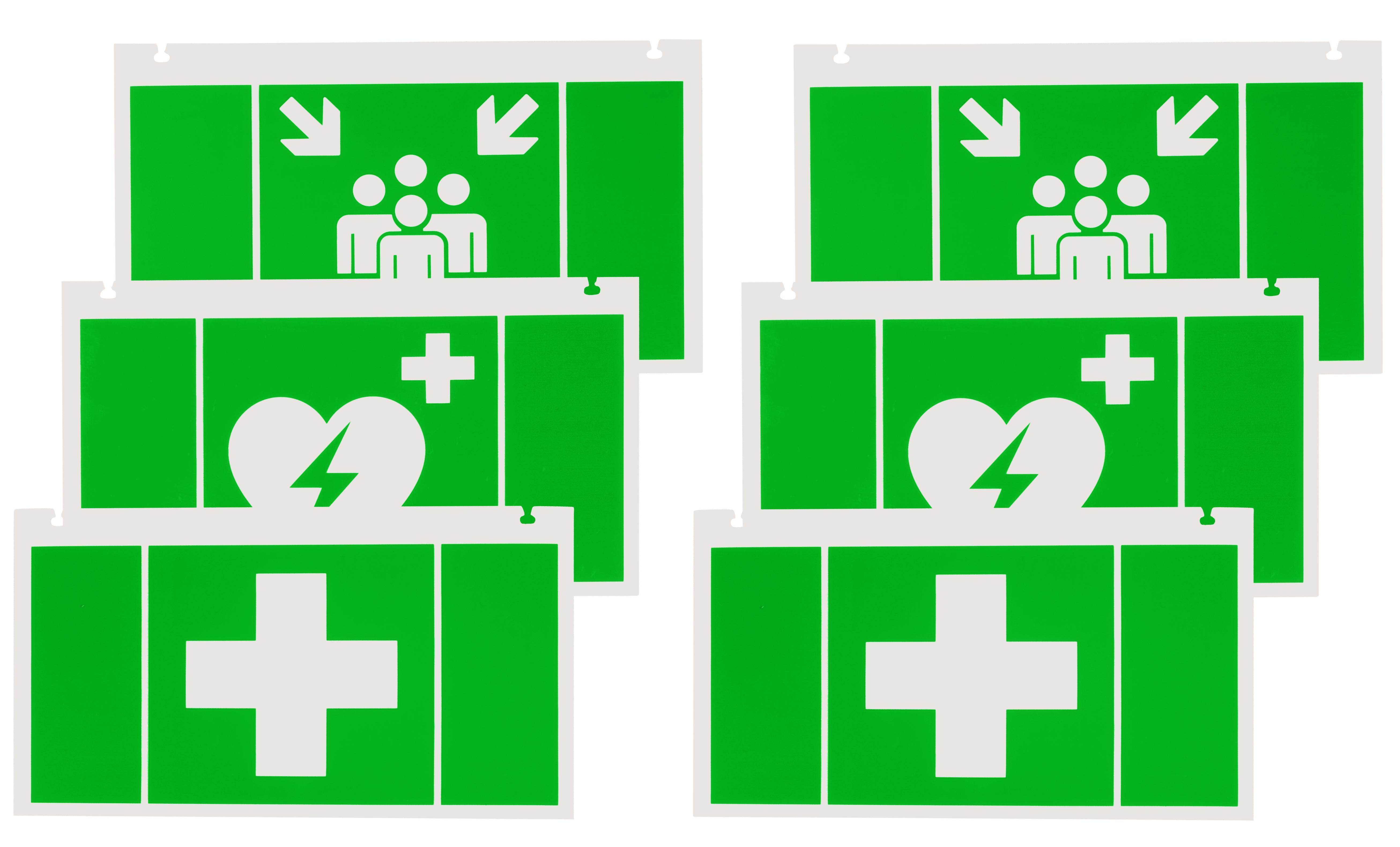 1 Stk Piktogrammset Erste Hilfe für NLKSC.. mit 2x3 Steckpiktos NLKS3HELP-