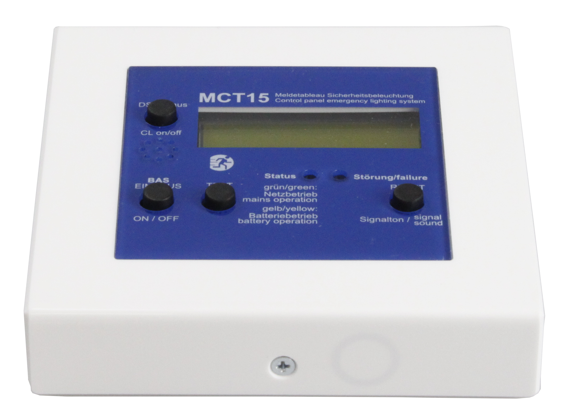 Meldetableau mit LCD Klartextanzeige und Busanbindung