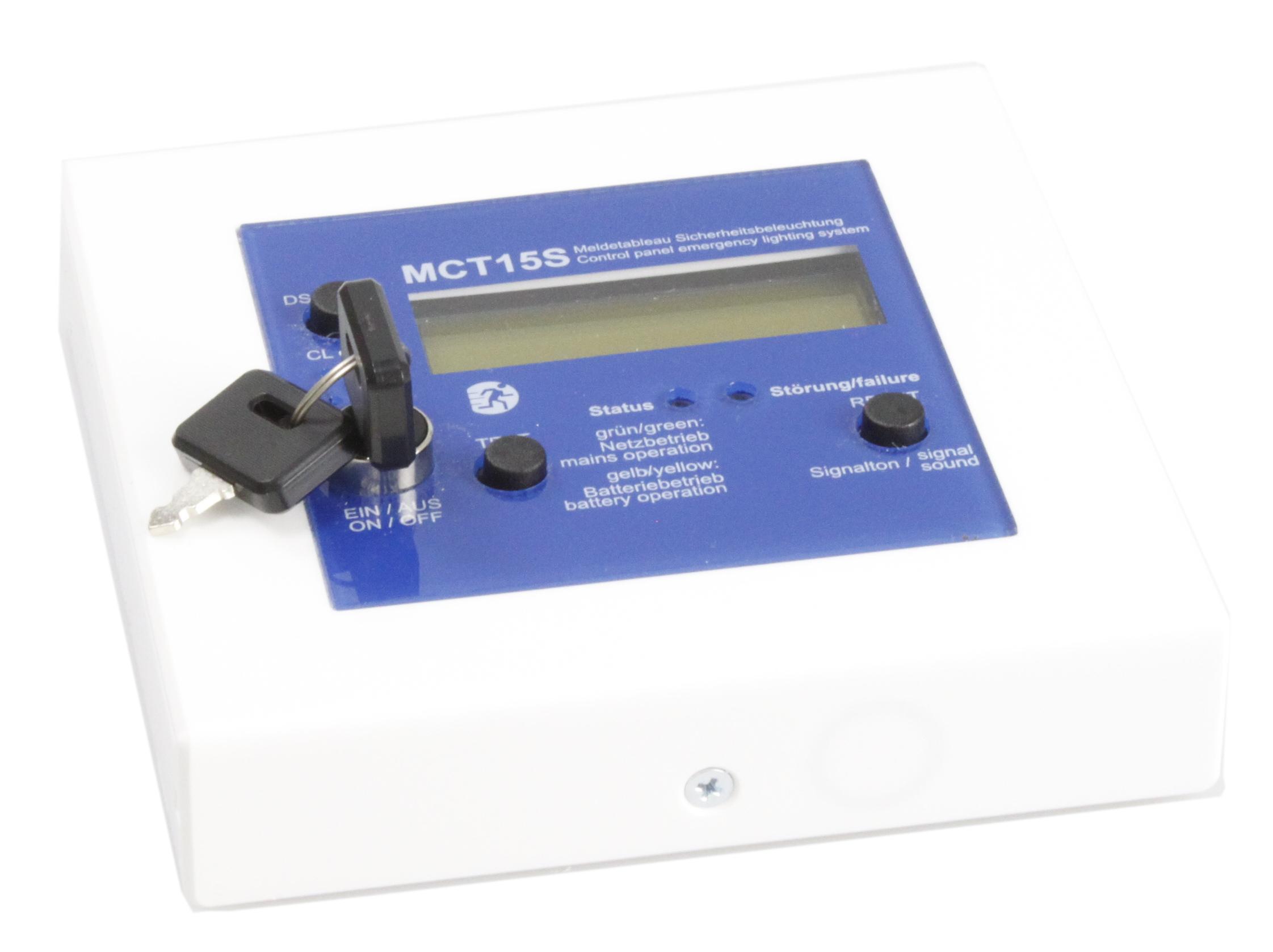Meldetableau mit LCD Klartextanzeige und Busanbindung + SS