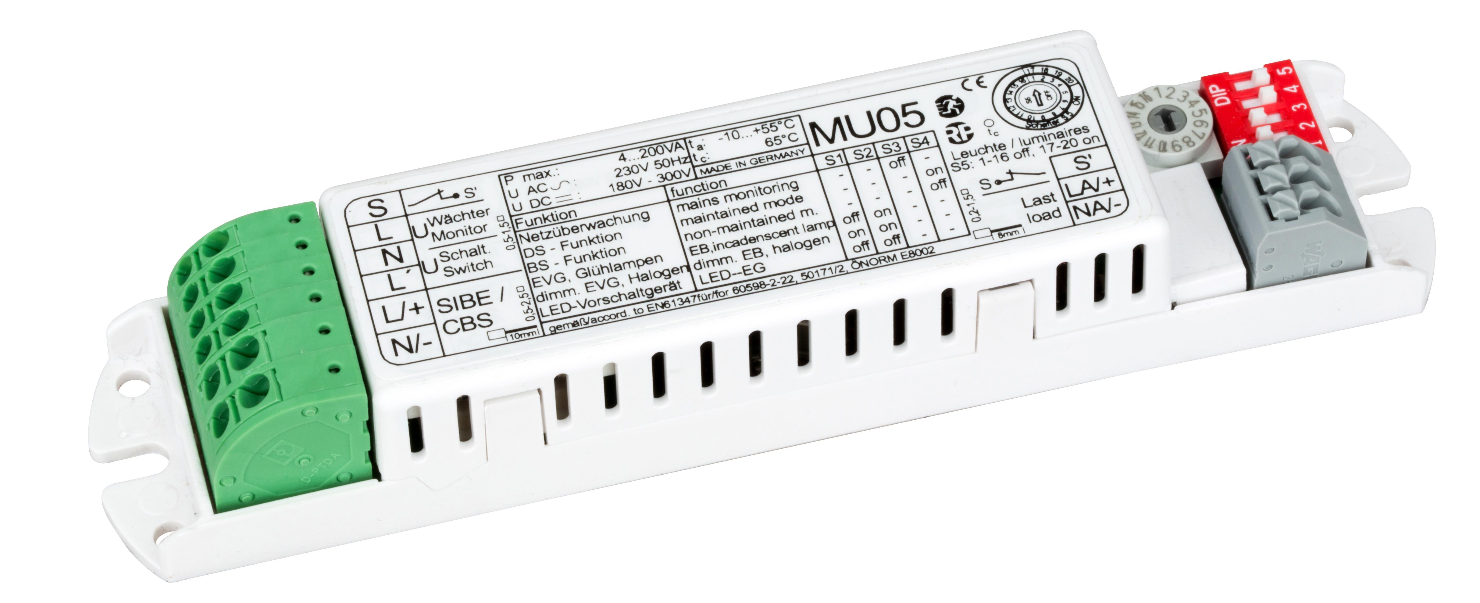 Leuchtenmanager für Überwachung und Mischbetrieb 4-200VA