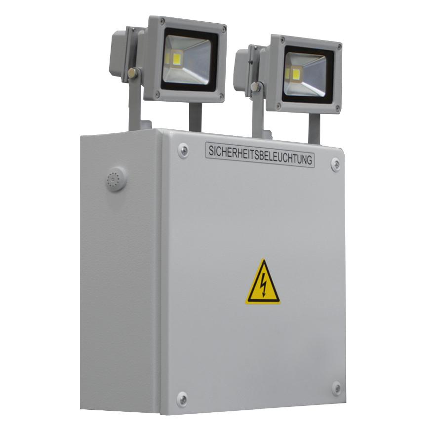 1 Stk Notlicht Strahler SKS 2x10W LED 3h 230V AC NLSKS2103W