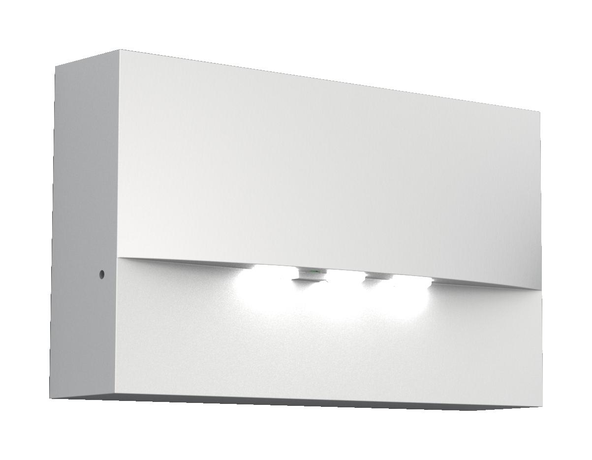 1 Stk Notleuchte WAF weiß 3x1W ERT-LED 230V EL, Wandanbaumontage NLWAF029EL