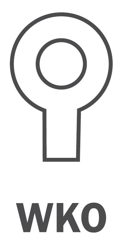 1 Stk Kettenösenset für Leuchten Design WG/WX NLWKO-----