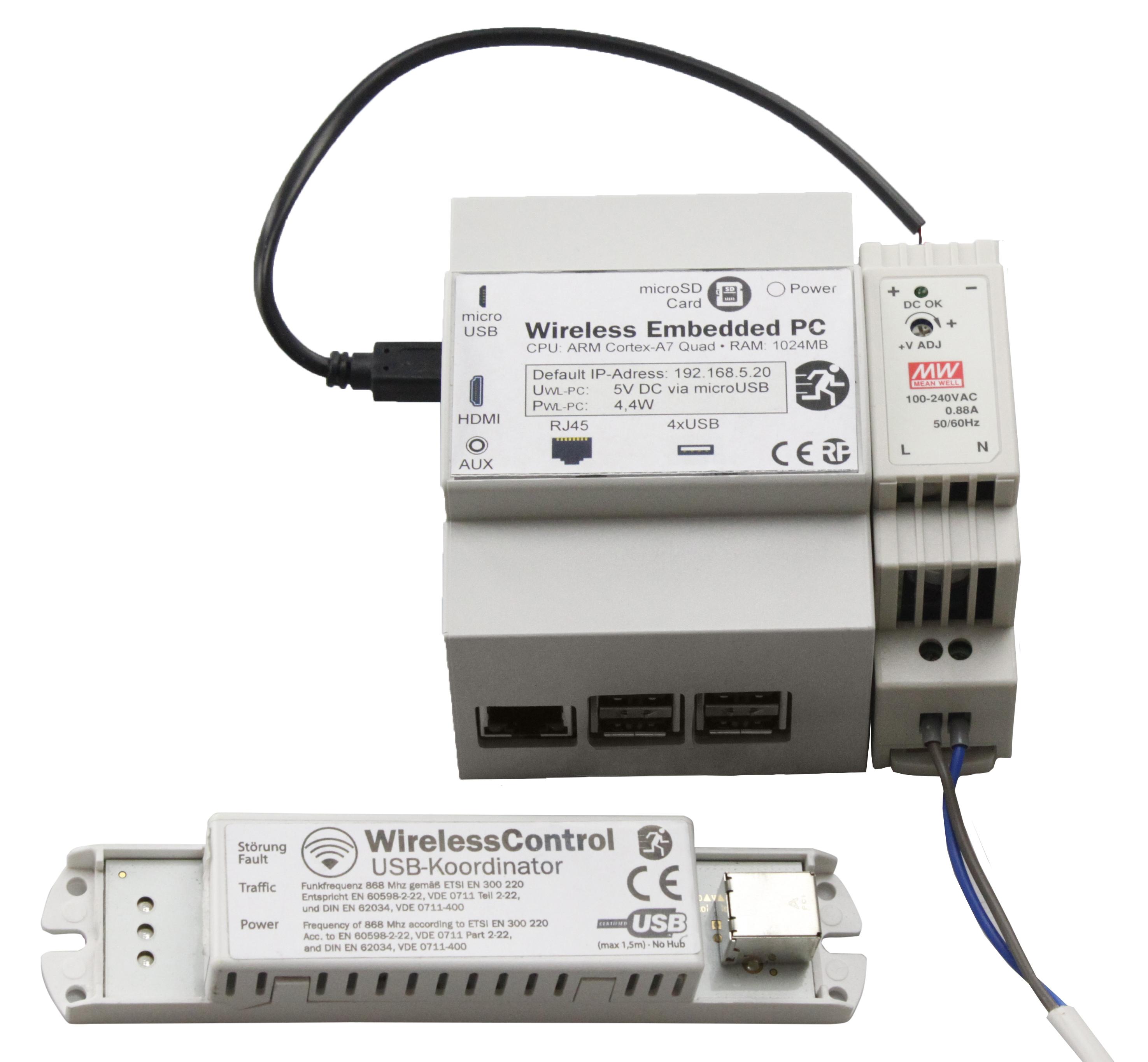 Hutschienen PC (CPC) inklusive WirelessControl Software