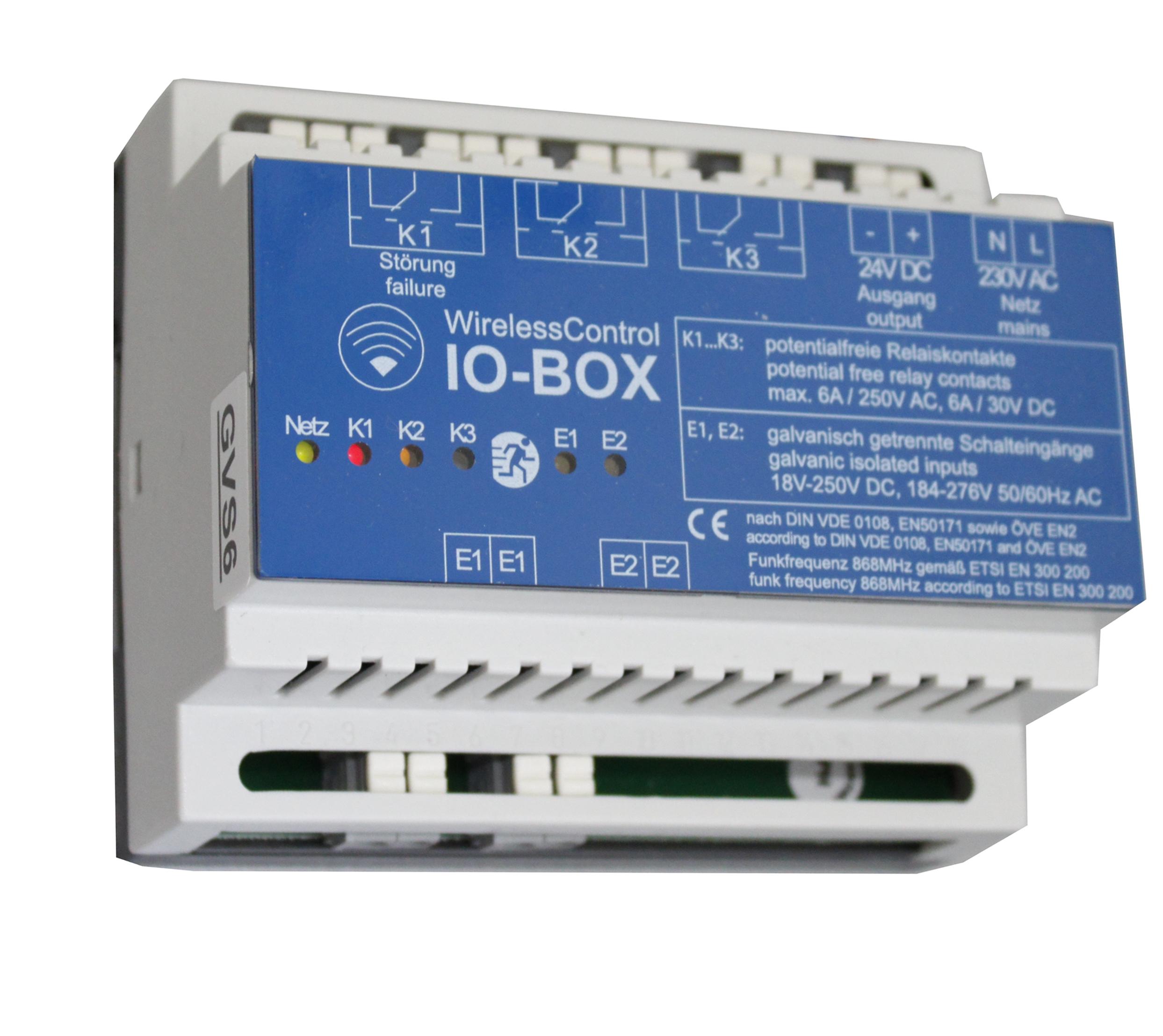 WirelessControl I/O Box 2 Eingänge, 3 Ausgänge