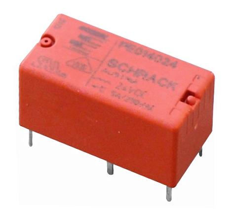 1 Stk Printrelais PE, 1 Wechsler, 5A, 24VDC, 2,5mm Pinning PE014024--