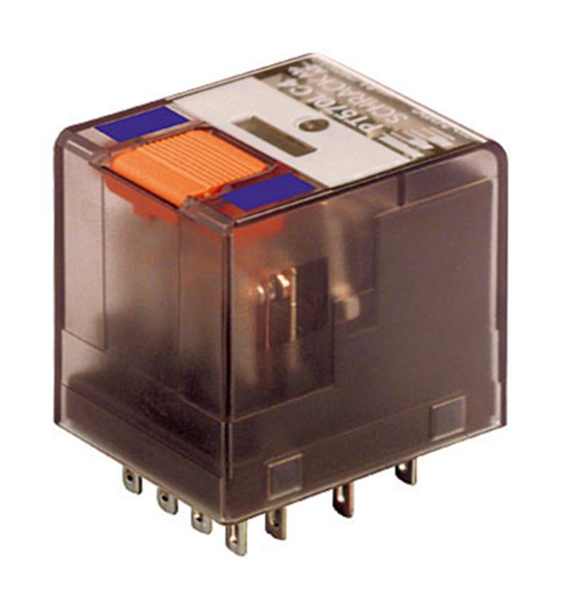 1 Stk Miniatur-Relais, 4 Wechsler, 6A, 24VDC, mit LED und FD PT570LC4--