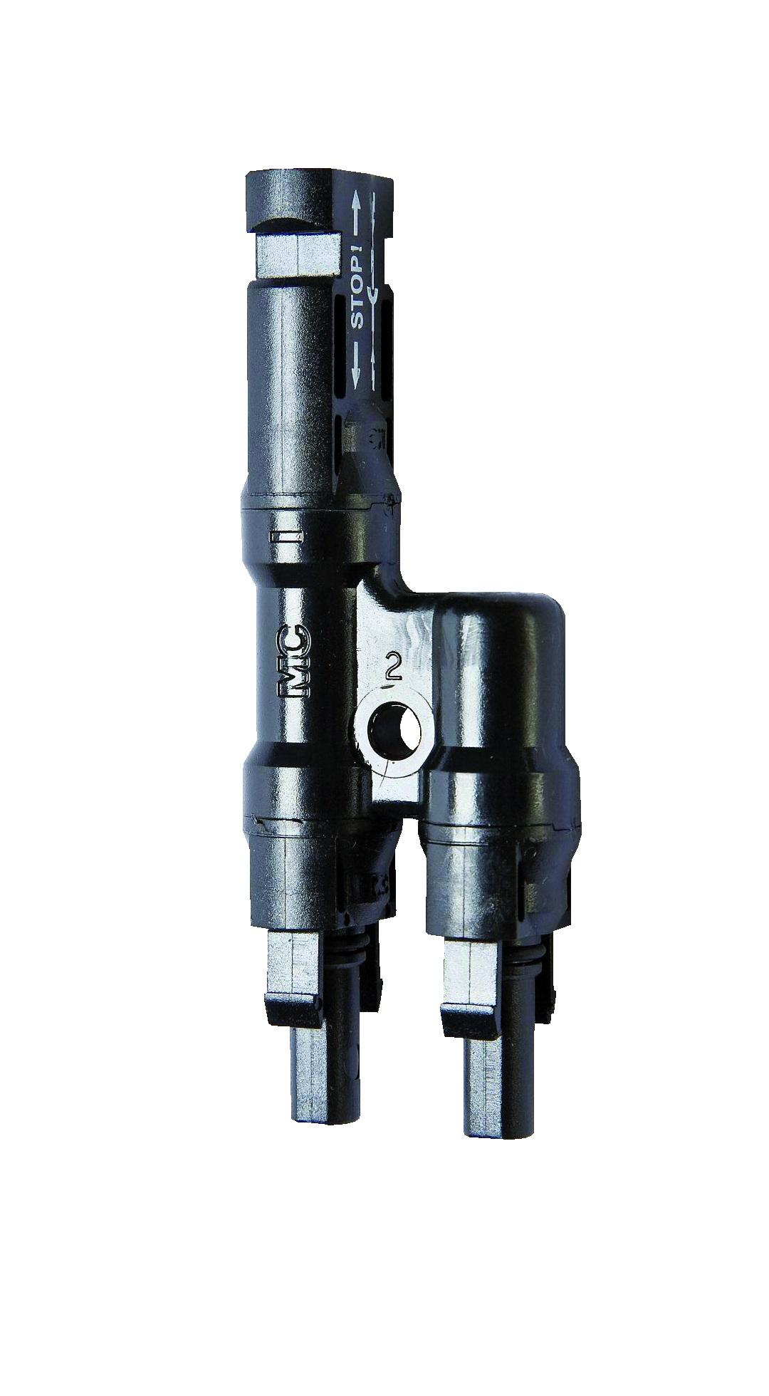 1 Stk Abzweigbuchse MC4, Bemessungstrom 30A bei 4-6mm²-Kabeln PVA16000--