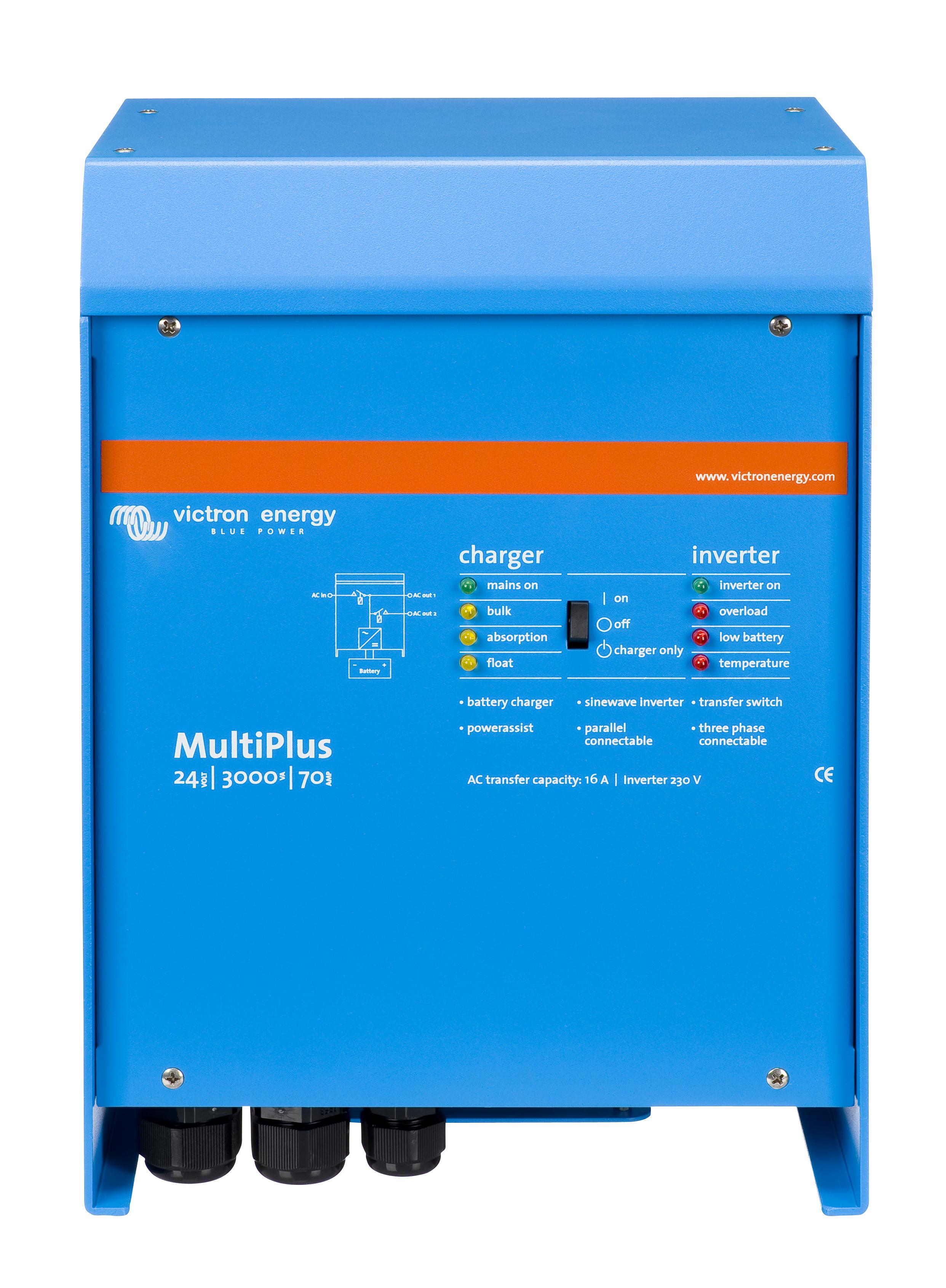 1 Stk MultiPlus C 24/800/16-16 24Vdc / 800 W mit zusatz Anschluss PVBM0824--