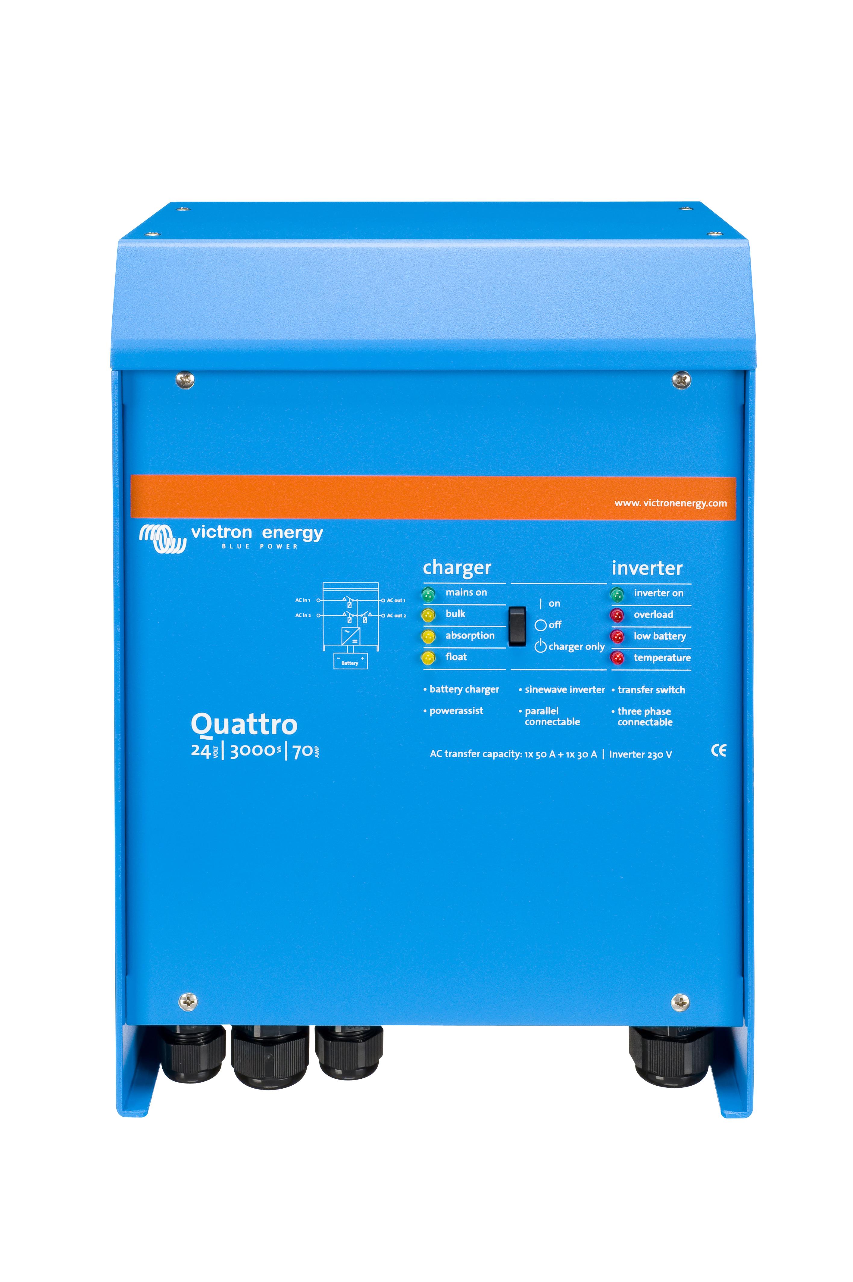 1 Stk Quattro48/8000/110-100/100 48Vdc/8kW Netz/Generatoranschluss PVBQ8048--