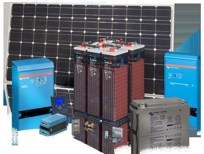 1 Stk Inselanlagen Set Mini 4 für 4 Module, Leistung 1000Wx2,5h PVBS0030--