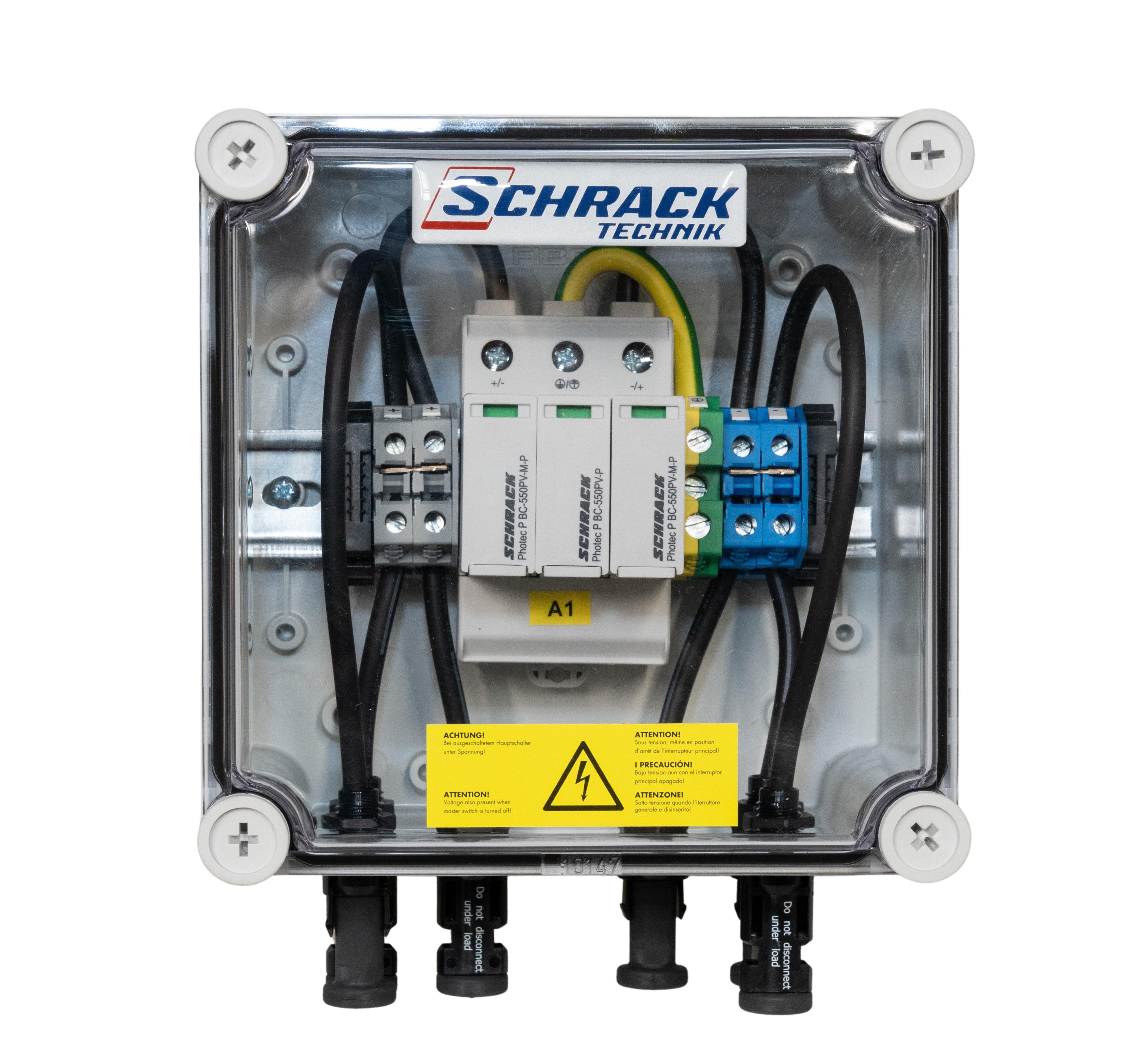 1 Stk PV-Blitzstromableiterbox für 1 Mpp Tracker, 1000Vdc PVP10001--