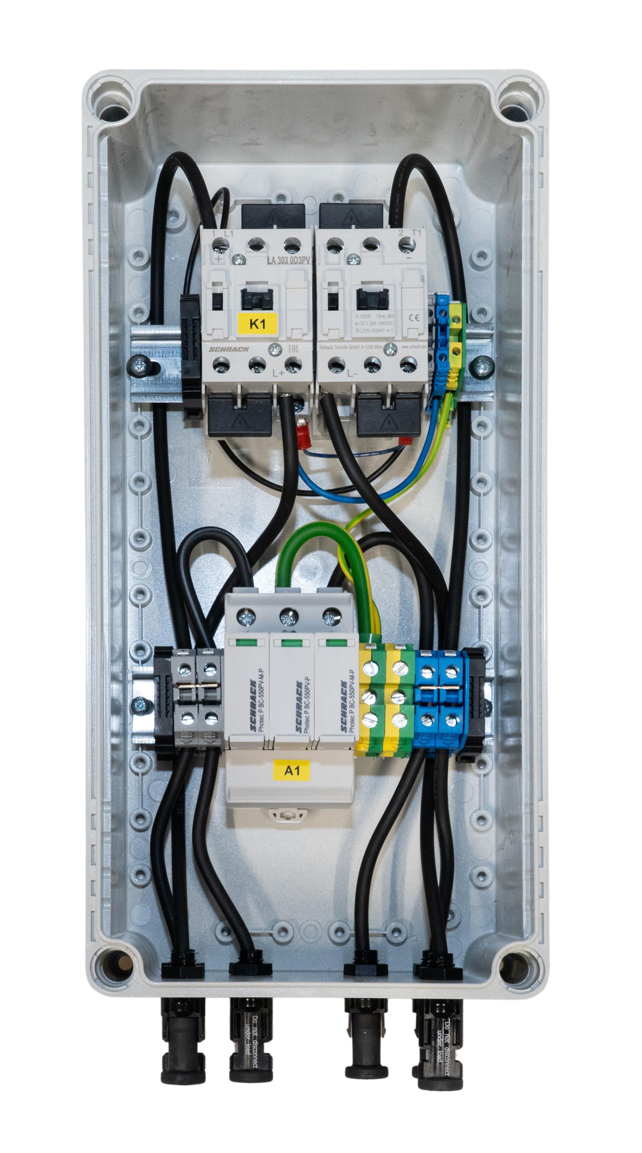 1 Stk PV-CombiBox BC Ableiter+Brandschutz, 1 Mpp Tracker, 1000Vdc PVPF1001--