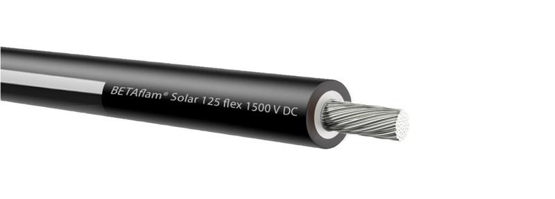 100 m PV Solarkabel 4² 500m schwarz/weiß Einadrig EN CPR BETAflam PVW50041--
