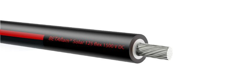 100 m PV Solarkabel 6² 500m schwarz/rot Einadrig EN CPR BETAflam PVW50062--