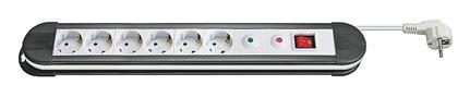 1 Stk Netzleiste Überspannungsschutz, Schalter, 6xSchuko, 16A,1.4m Q7110088--
