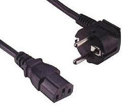1 Stk Netzkabel Schuko - C13 (Kaltgeräte), schwarz, 1.8m Q7130121--