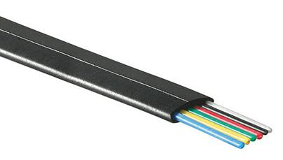 1 Stk Modularflachleitung 6pol.schwarz für Telefon-Patchkabel 100m Q7150270--