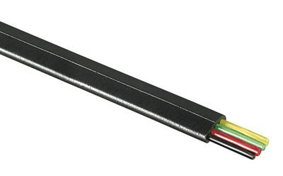 1 Stk Modularflachleitung 4pol.schwarz für Telefon-Patchkabel 100m Q7150663--