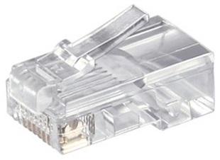 1 Stk Modular Stecker, RJ45 UTP 8P8C für Flachkabel Q7151610--