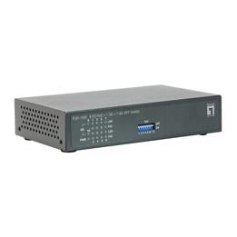 1 Stk Switch 8xRJ45 10/100 (PoE) + 1xRJ45 + 1xSFP 1000, Netzteil QLFGP1000-