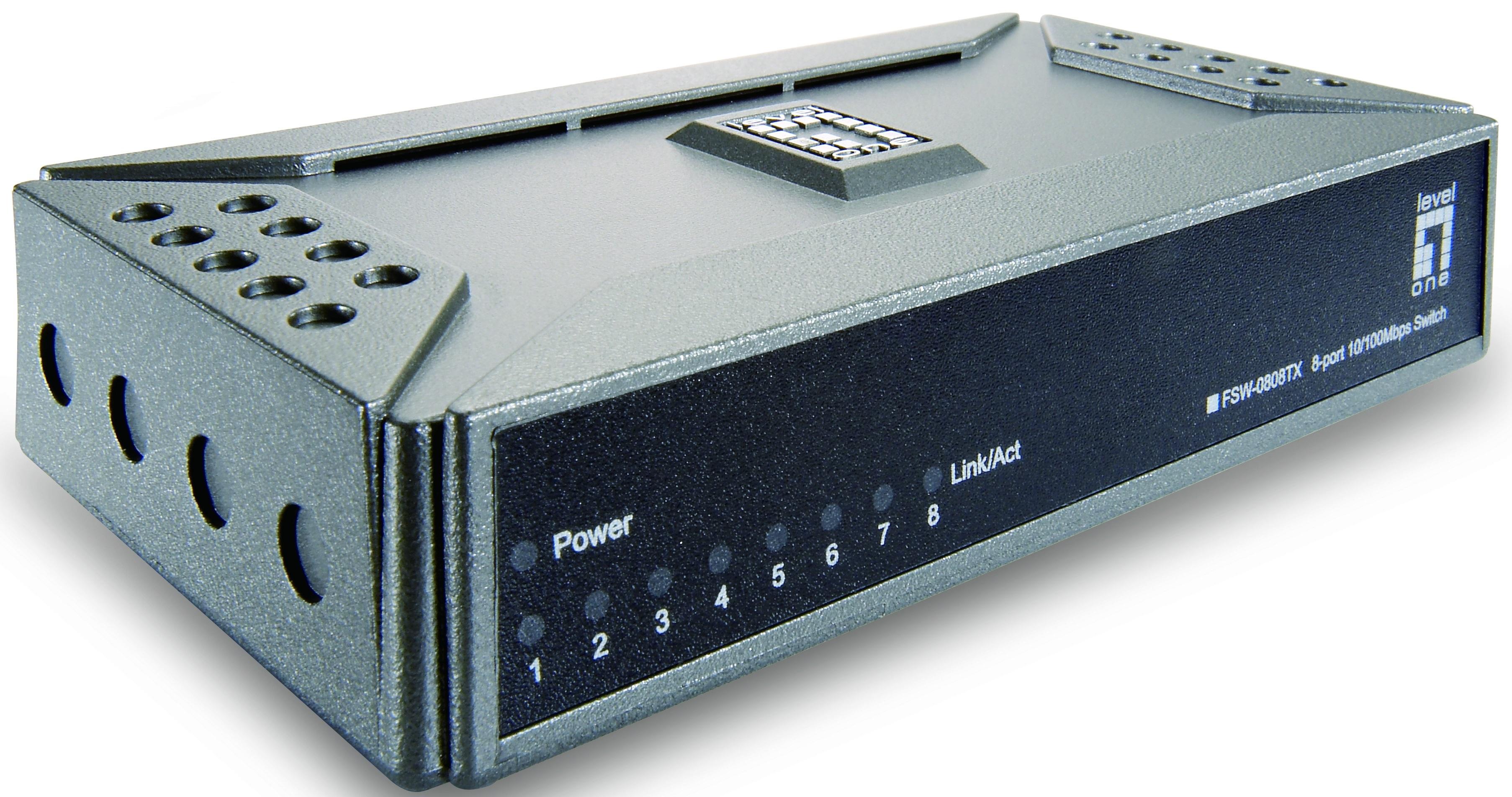 1 Stk Switch  8xRJ45 10/100, Leise, Lüfterlos, externes Netzteil QLFSW0808T