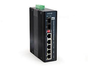 1 Stk Hutschienen Switch 4xRJ45 (PoE+) + 1xRJ45/SFP + 1xSFP, 126W QLIES0610-