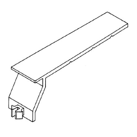 1 Stk Universalkabelhalteklammer für BE-DIN Verdrahtungskanal RH726947--