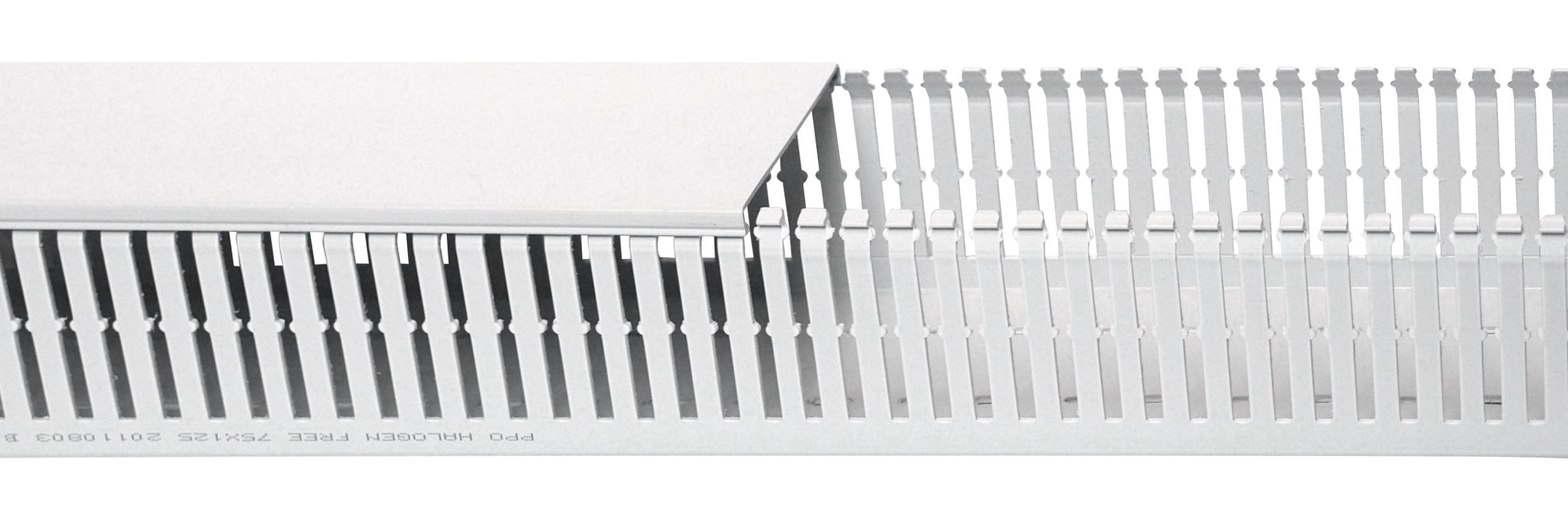 1 m Verdrahtungskanal halogenfrei 125x75mm (BxH), RAL 7035 RH732919--