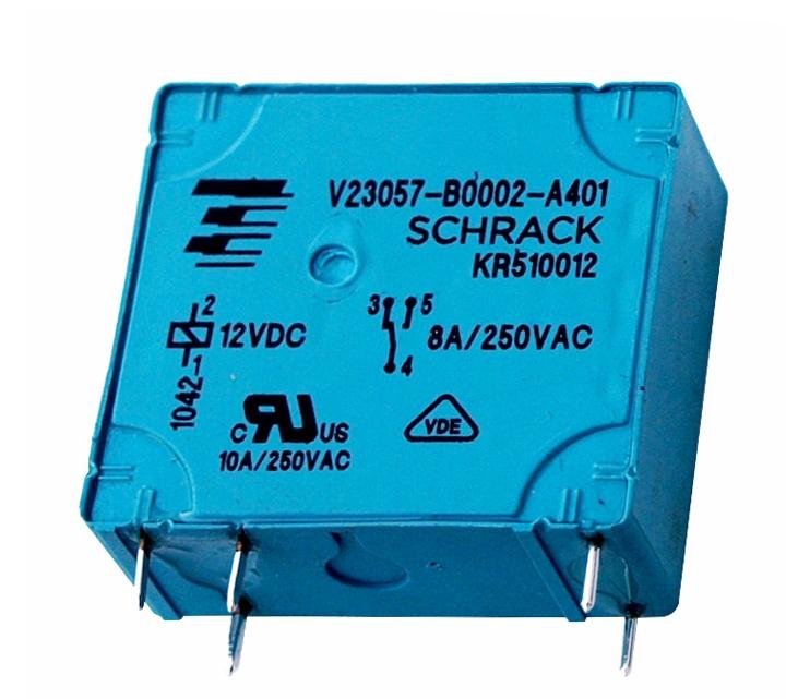 1 Stk RP-Printrelais, 1 Wechsler, 8A, 12VDC, Pinning 2,5mm RP510012-E
