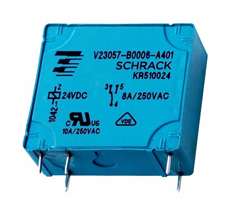 1 Stk RP-Printrelais, 1 Wechsler, 8A, 24VDC, Pinning 2,5mm RP510024-E