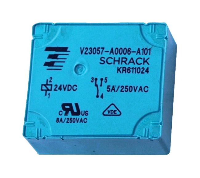 1 Stk RP-Printrelais, 1 Wechsler, 8A, 24VDC, Pinning 2,5mm RP611024-E