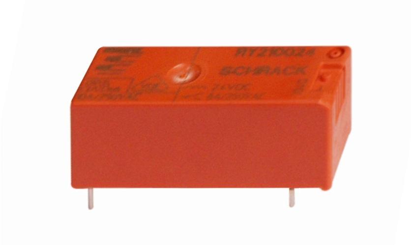 1 Stk RY-Printrelais, 1 Wechsler, 8A, 24VDC, Pinning 3,2mm, AgCdO RY210024--