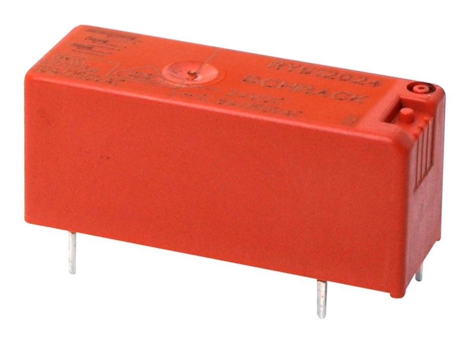 1 Stk RY-Printrelais, 1W, 8A, 24VDC, Pinning 3,2mm, Ag, waschdicht RY612024--