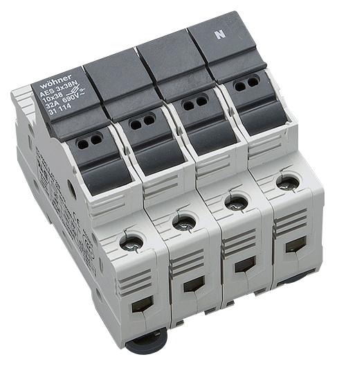 1 Stk Halter für zylindrische Sicherungen 32A 690V 3-polig+N SI311140--
