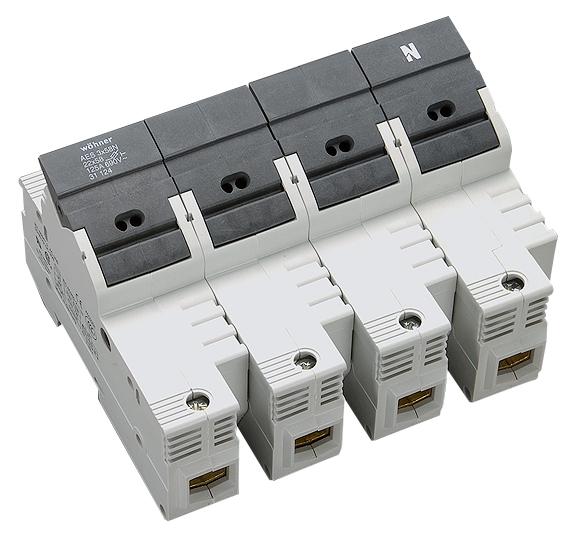 1 Stk Halter für zylindrische Sicherungen 125A 690V 3-polig+N SI311240--