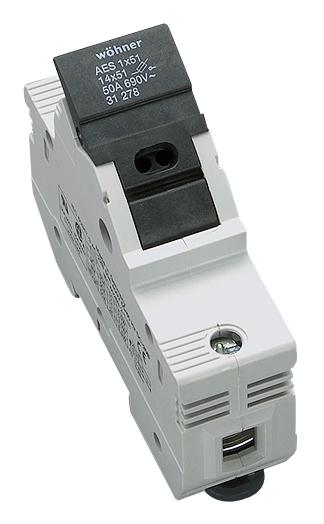 1 Stk Halter für zylindrische Sicherungen 50A, 1-polig, 690V SI312780--