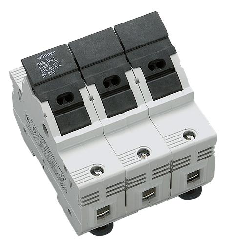 1 Stk Halter für zylindrische Sicherungen 50A, 3-polig, 690V SI312800--
