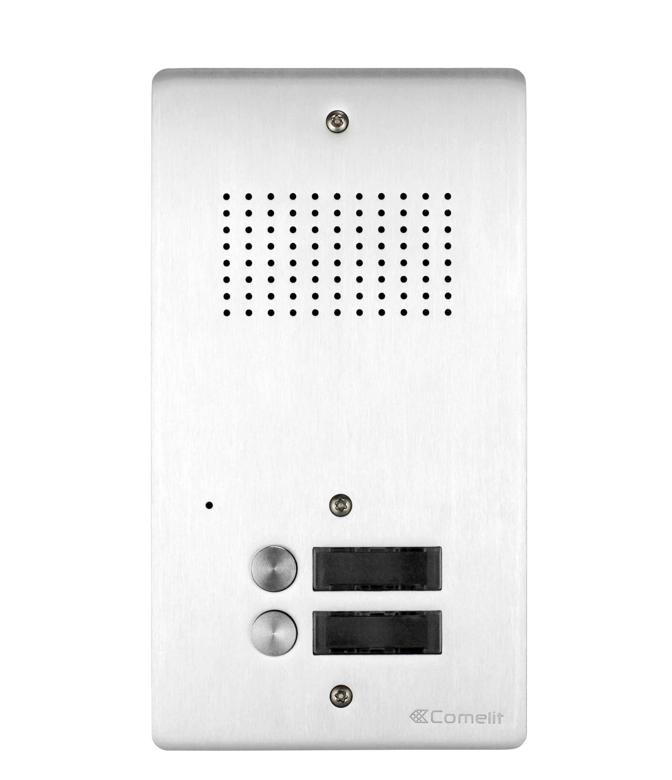 1 Stk AV-Panel Audio, 2 Tasten, ohne Postschloss-Ausschnitt, Alu SP3002NAA-