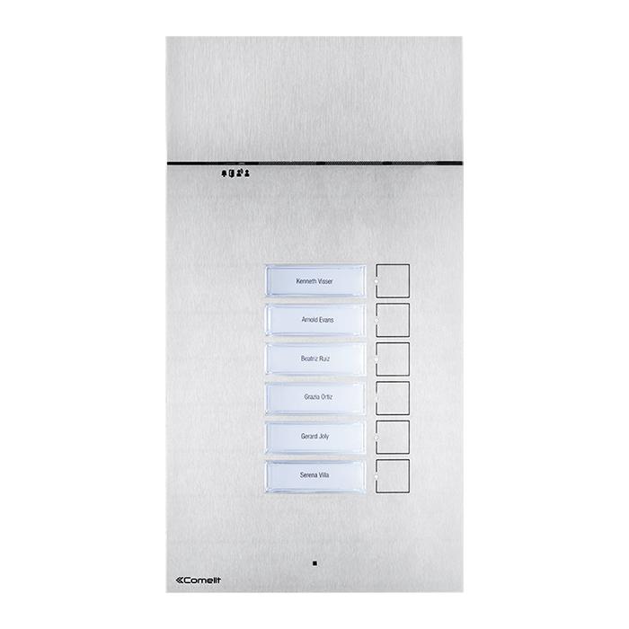 1 Stk 316 ANALOG-Panel Audio mit 2 Tasten, Edelstahl, 2-Draht SP3002XAB-