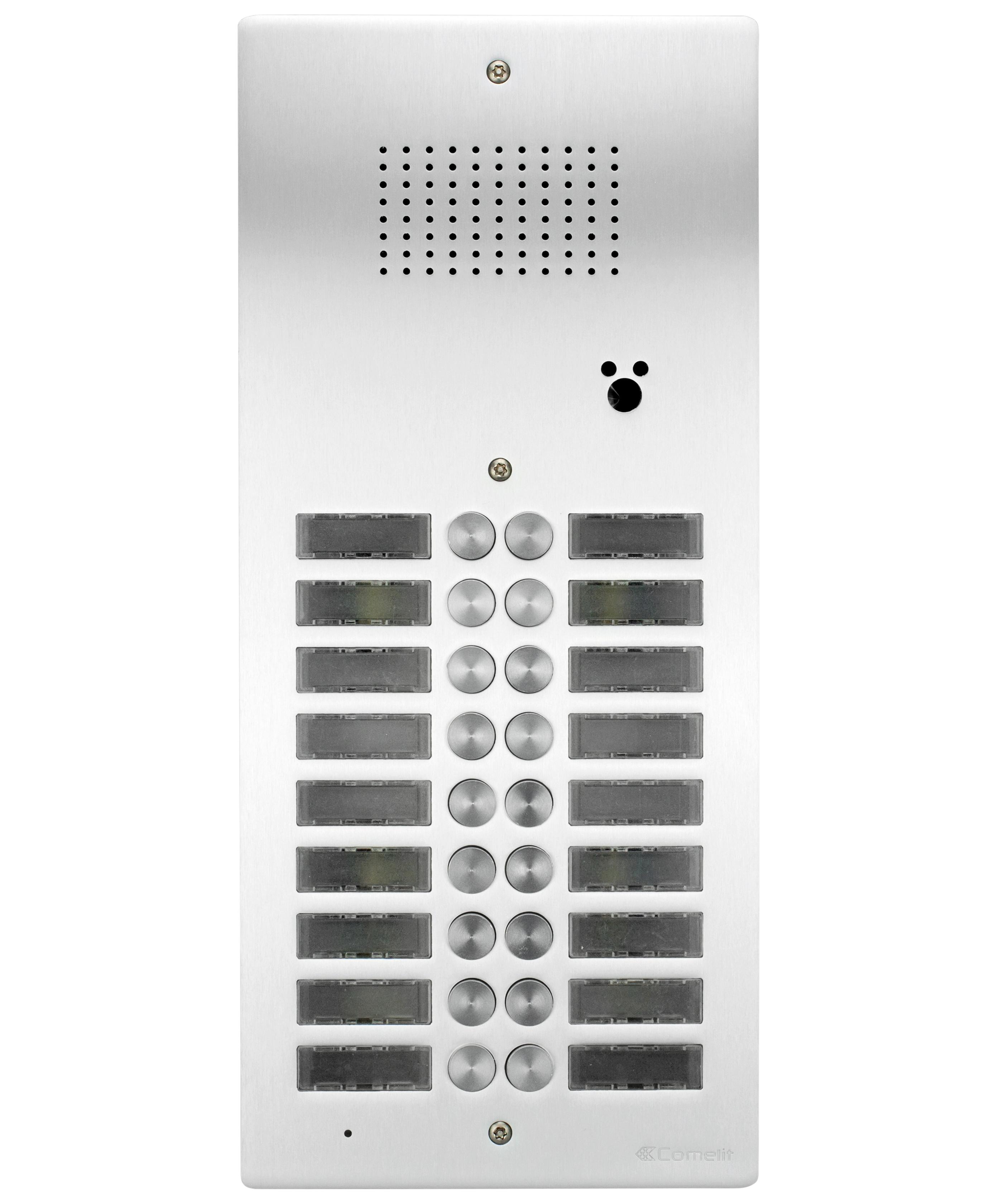 1 Stk AV-Panel Audio, 16 Tasten mit Postschloss-Ausschnitt, Alu SP3016NAPT