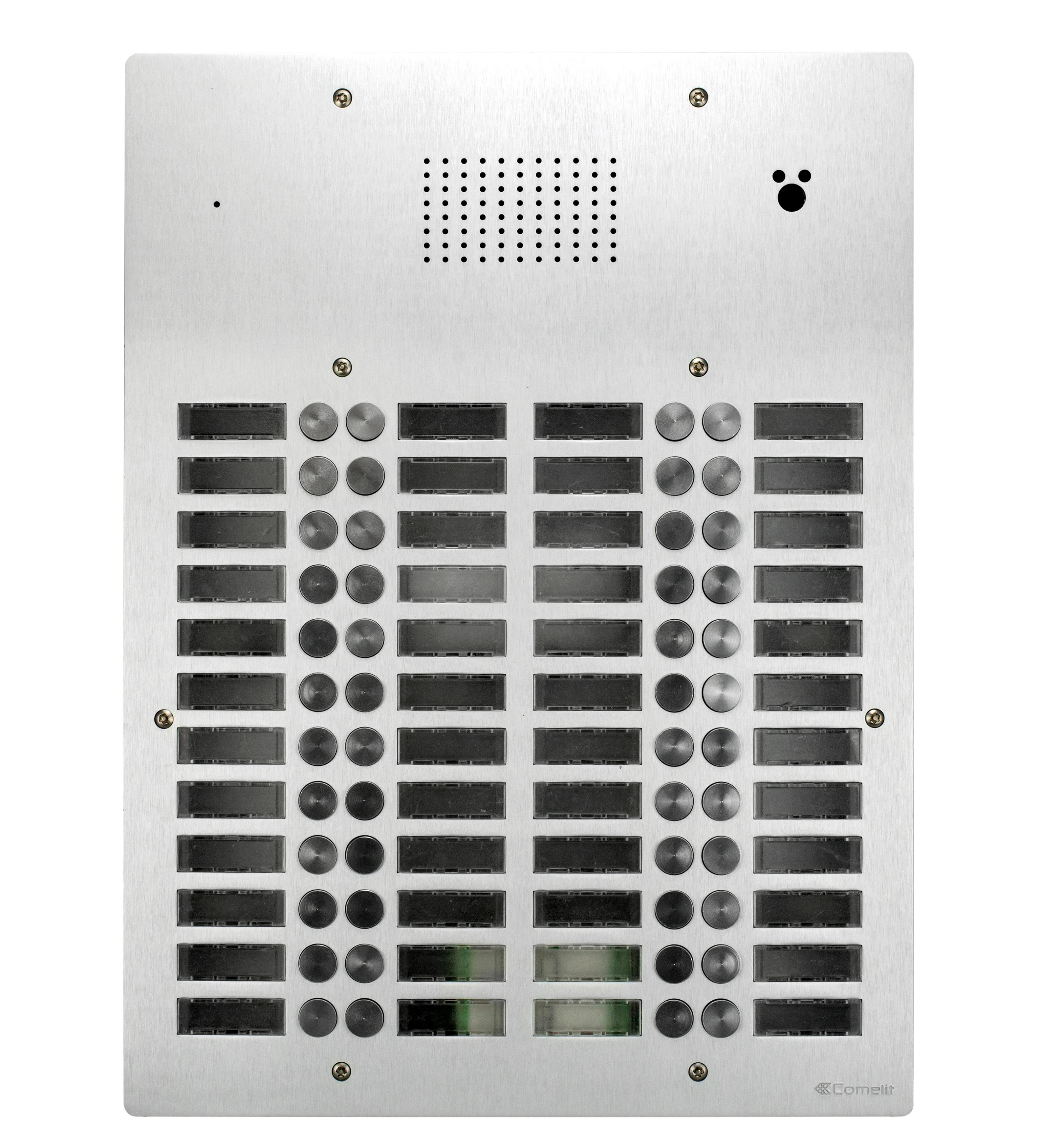 1 Stk AV-Panel Audio, 48 Tasten, mit Postschloss-Ausschnitt, Alu SP3048NAPT