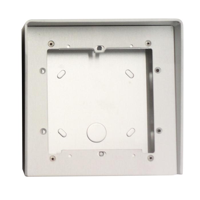 1 Stk AP Gehäuse 1fach aus eloxiertem Aluminium mit Regenschutz SP311610--