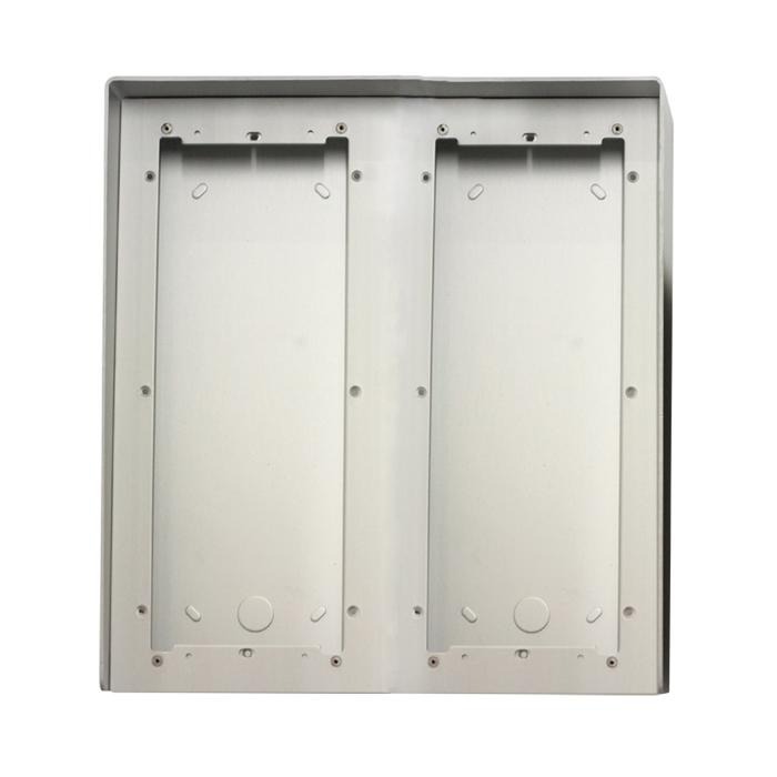 1 Stk AP Gehäuse 6fach aus eloxiertem Aluminium mit Regenschutz SP311660--