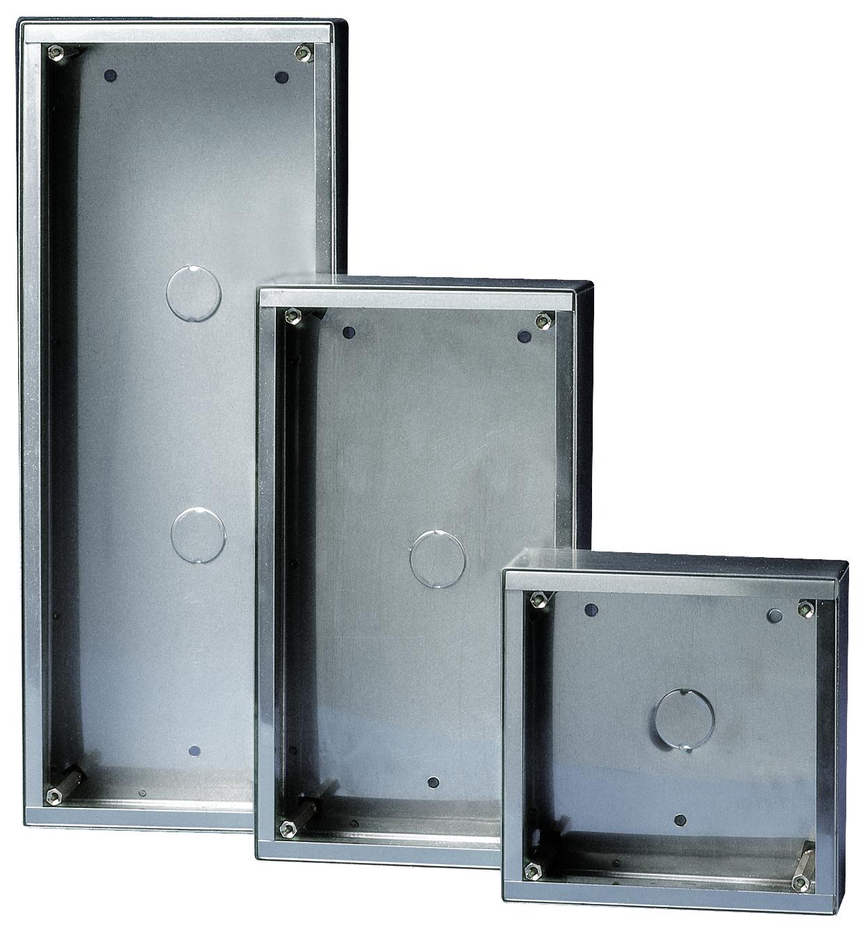 1 Stk AP-Gehäuse Edelstahl für 1 Modul Vandalcom SP315901--