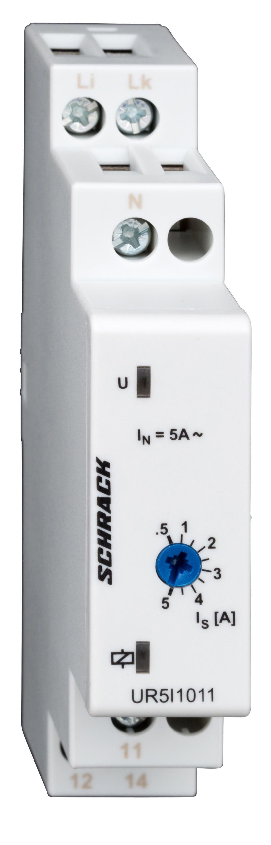 1 Stk Stromüberwachungsrelais bis 5A, AC, 1 phasig UR5I1011--