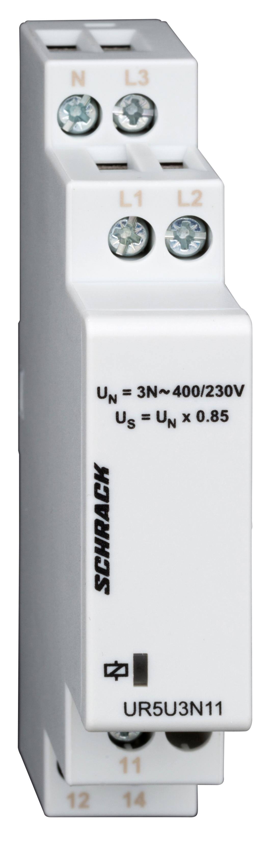 1 Stk Spannungsüberwachung 3-phasig gegen N, fixe Us=195,5V UR5U3N11--