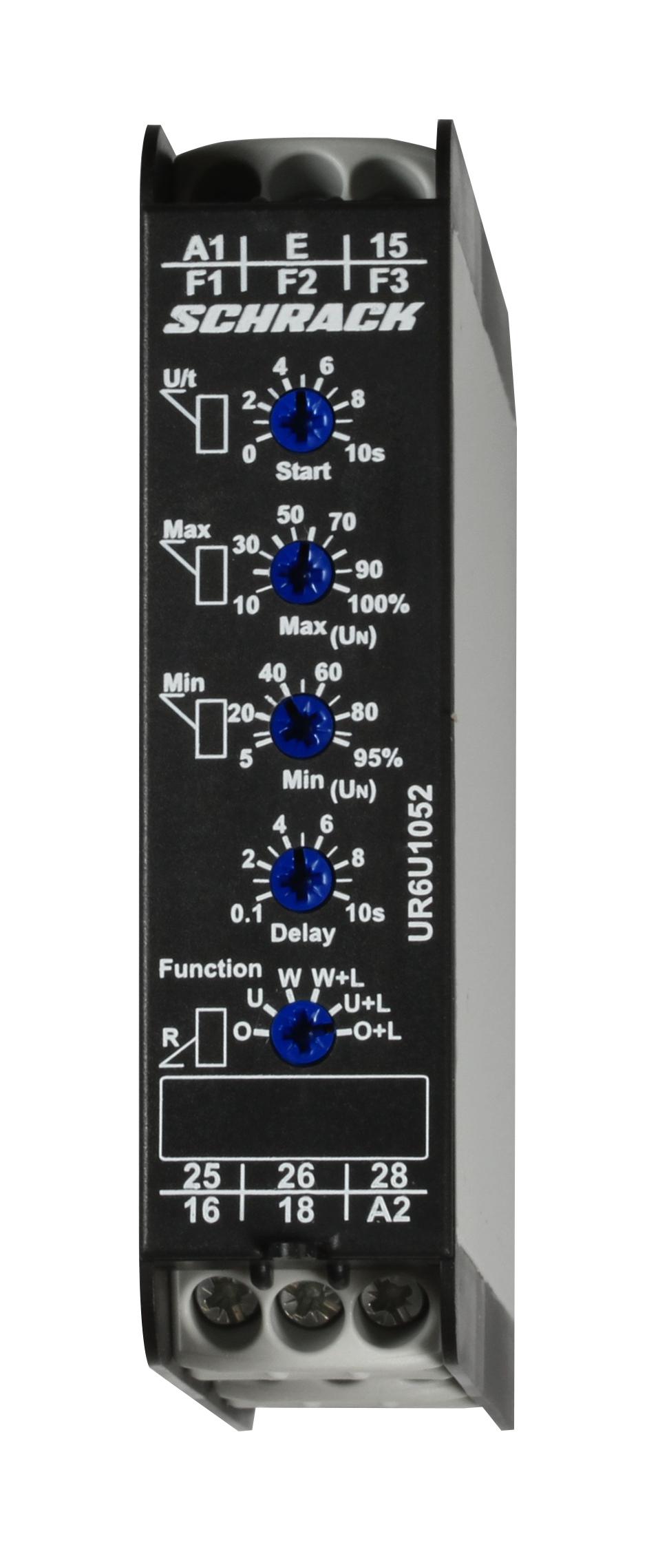 1 Stk Spannungsüberwachungsrelais, 1-phasig AC-DC, 2 Wechsler UR6U1052--