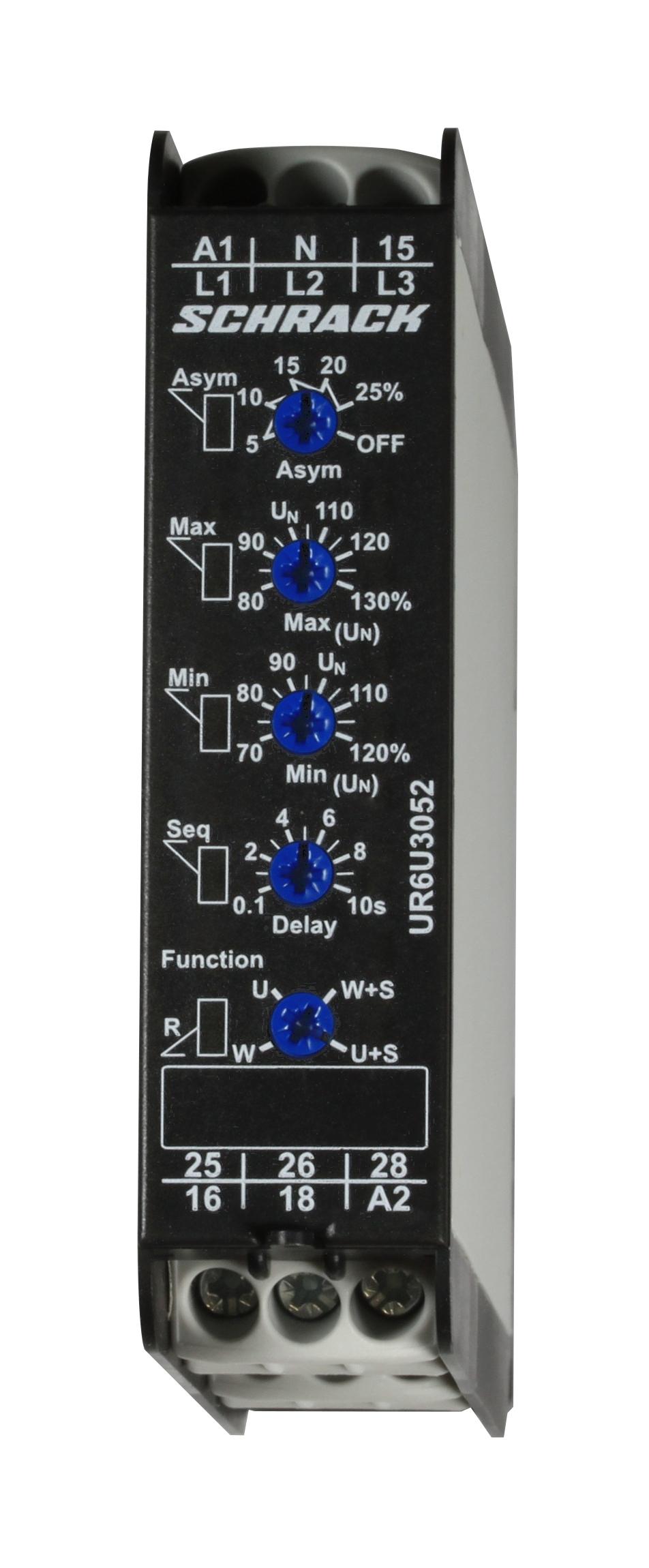 1 Stk Spannungsüberwachungsrelais für 3-Phasennetze AC/DC UR6U3052--