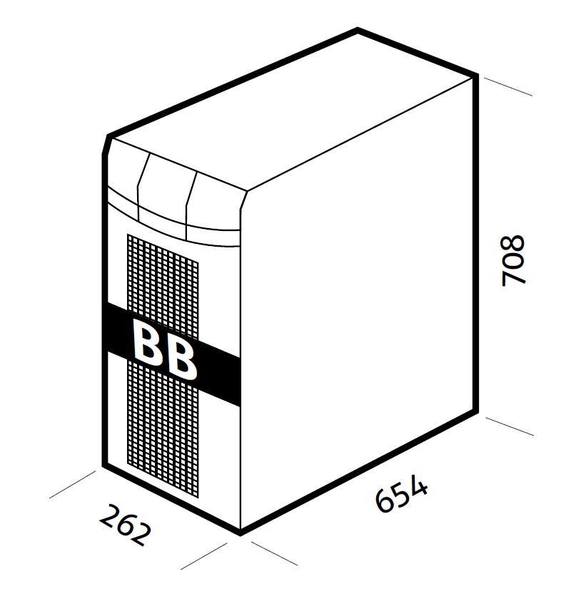 1 Stk Batteriebox leer für USSP180/240V mit Sicherungen/Verbinder USAB240M1-